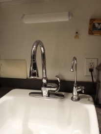 Intalled and looking good. The sink looks puny in this photo - it's not huge, but it's a big sink.
